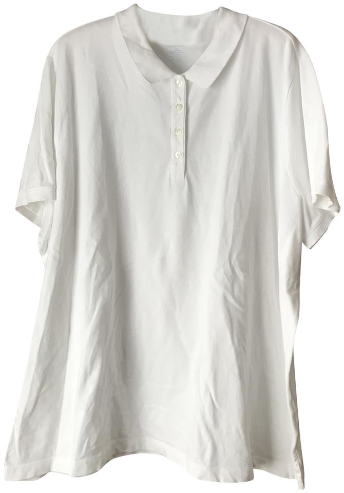 787ba174 Lands' End Golf Shirt Collar Button Close Short Sleeves Vented Tunic Image  0 ...