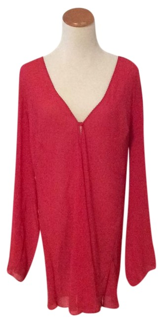 Item - Red Coverup/ Nightgown Cover-up/Sarong Size 12 (L)