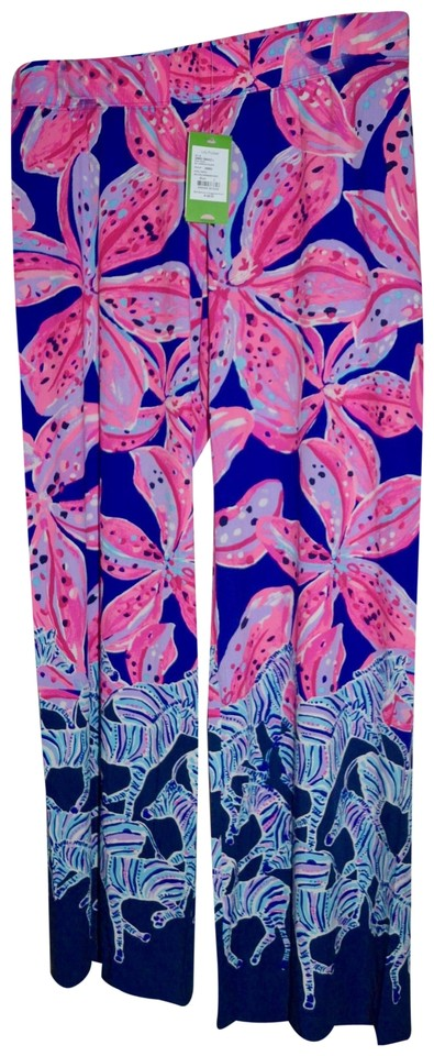 b6491168843042 Lilly Pulitzer Palazzo Party Bal Harbour Wild Child Wide Leg Pants Royal  Purple Image 0 ...