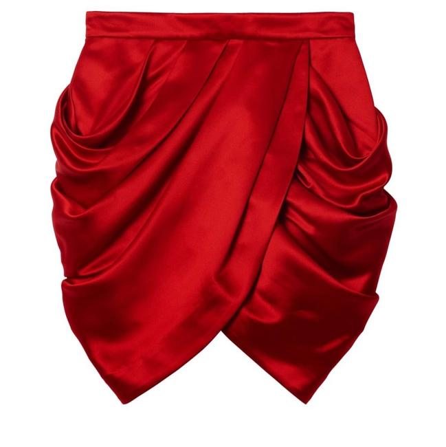 Item - Red with Gold Zipper Collectors Item Skirt Size 6 (S, 28)