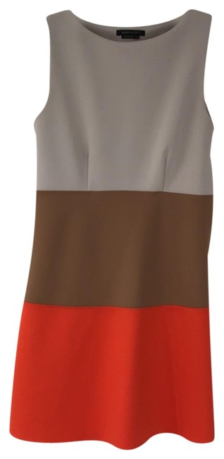 Preload https://img-static.tradesy.com/item/24717091/bcbgmaxazria-gray-light-brown-orange-bcbg-max-azria-mid-length-cocktail-dress-size-12-l-0-1-650-650.jpg