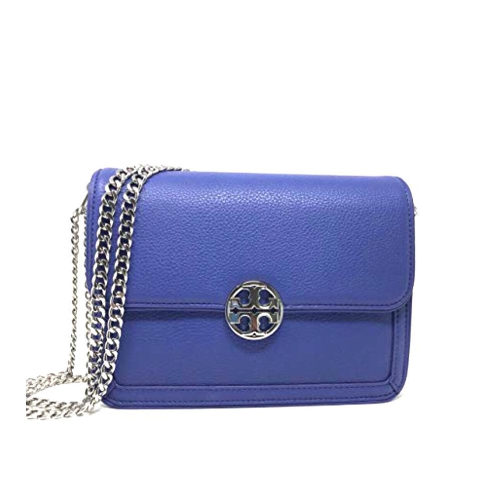 a4f5ed02a2b Tory Burch Duet Chain Convertible Shoulder Marlin Silver Leather ...