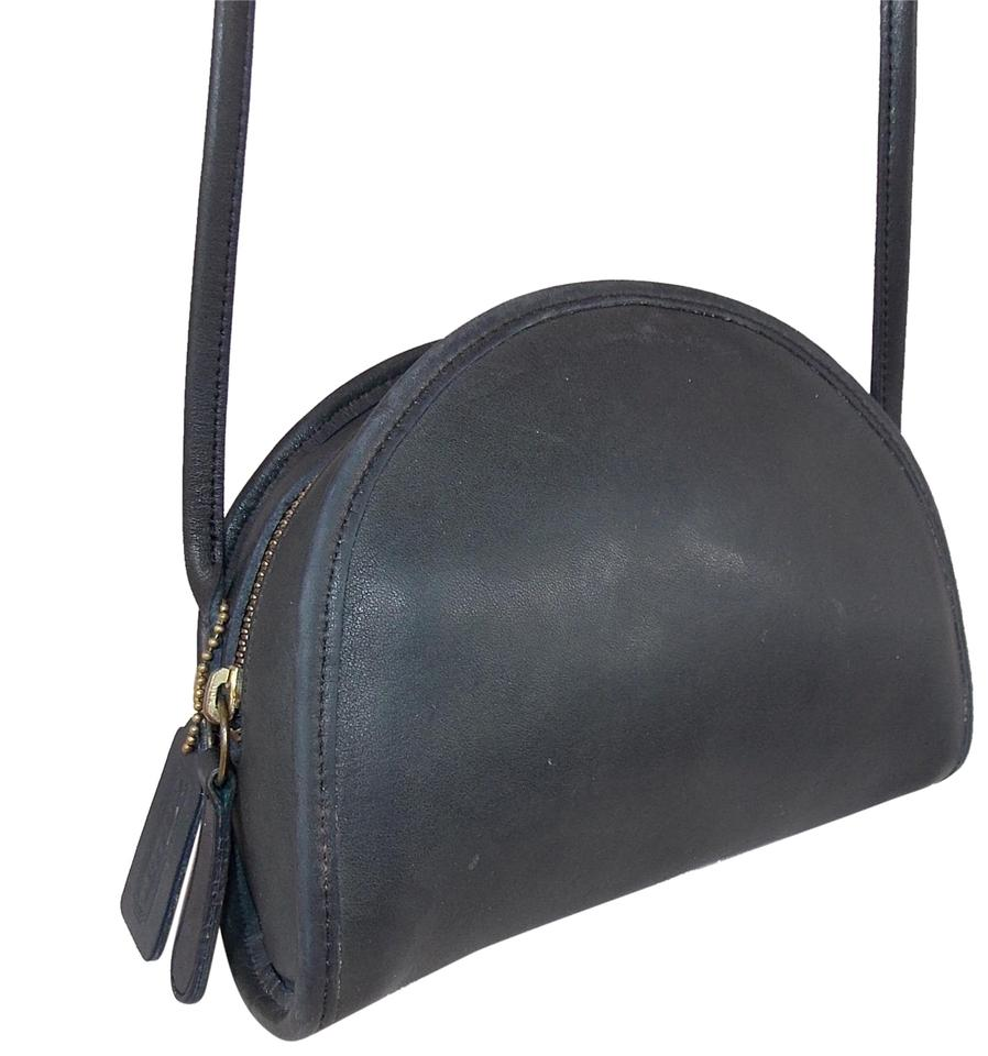 177a8415bcbc Coach  kimball  ~  0845-331 (Style  9911) ~ ~brass~good Vint Black Leather Cross  Body Bag