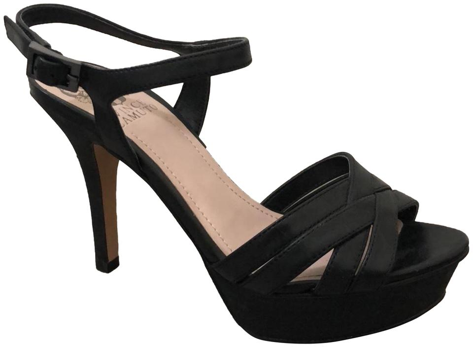 c589a1ba516 Vince Camuto Black Strappy Heels Platforms Size US 6.5 Regular (M