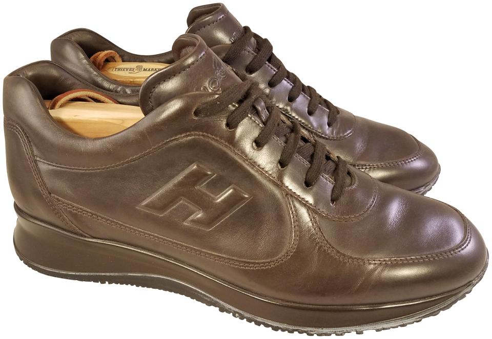 600c13917 Hogan Brown Genuine Leather By Tods Color Sneakers Size US 7.5 ...