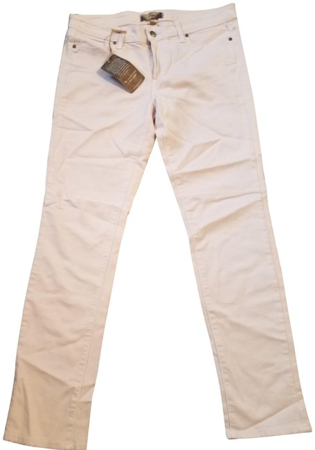 Item - Light Pink Coated Skinny Capri/Cropped Jeans Size 10 (M, 31)