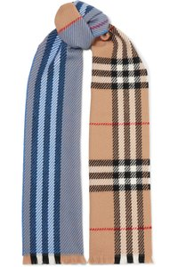 Burberry Checked wool scarf