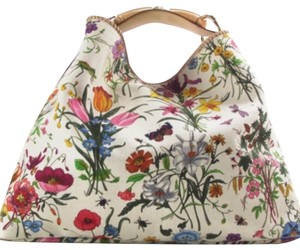 8b2b6fe86468 Gucci (Large) Floral Canvas and Leather Hobo Bag - Tradesy