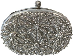 Crystal Collection Purse Silver and rhinestone Clutch
