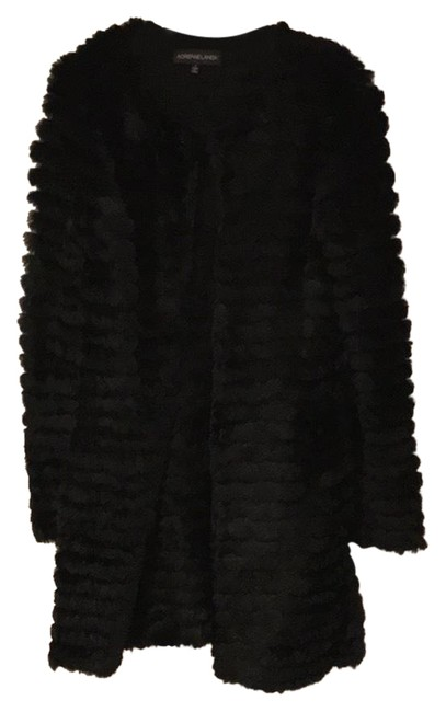 Item - Black Rabbit Coat Size 6 (S)