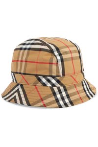 Burberry Checked cotton-canvas bucket hat L