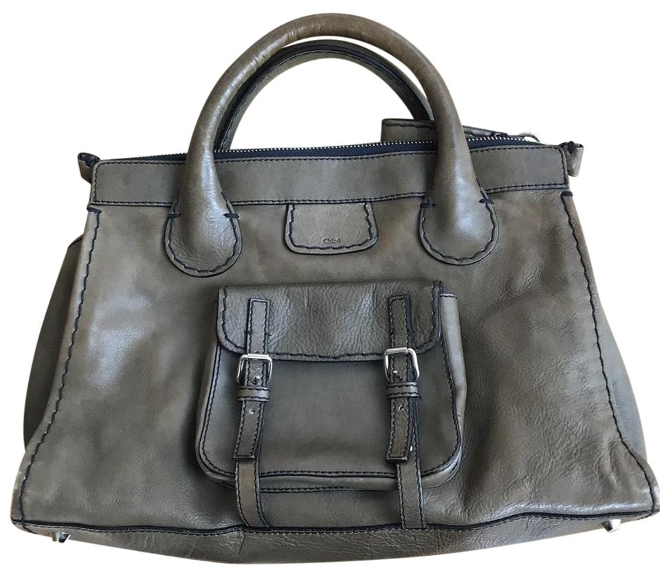 38fc45b0f5e2 Chloé Edith Olive Leather Satchel - Tradesy