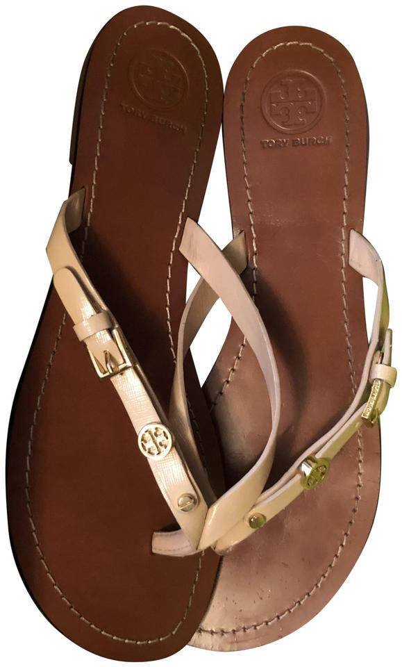 0fd854bfe Tory Burch Camellia Pino Monogram Flat Thong Sandals Size US 9.5 ...