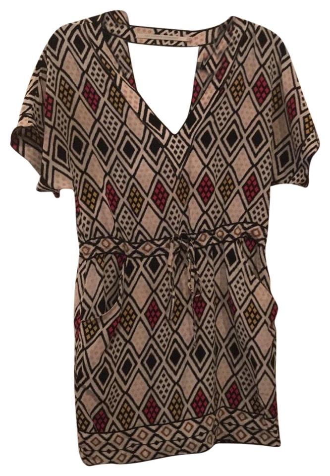 58468ffd53917f Twelfth St. by Cynthia Vincent Cream Pink Black White Mustard Not Sure  Casual Dress
