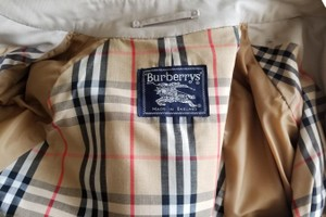 Burberry Vintage No Wear Plaid Trench Coat