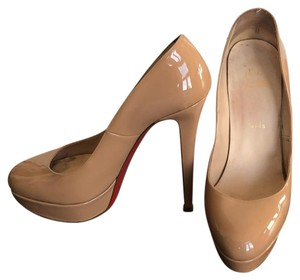 25a9c7948f9 Christian Louboutin Beige New Simple 85 Patent Leather Pumps Size EU ...