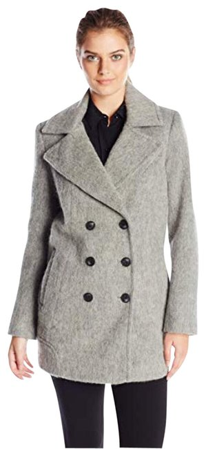 Item - Grey Double Breasted Peacoat Marc New York Blazer Size 6 (S)