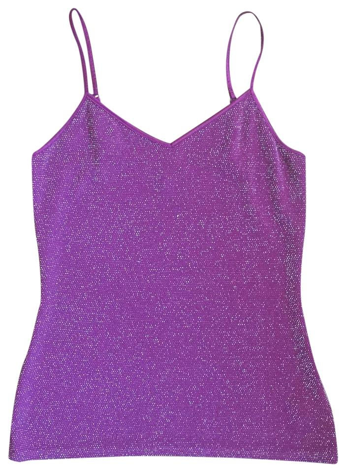 6902117f3415d Express Burgundy Purple Iridescent Shimmer Stretch Camisole Tank Top Cami
