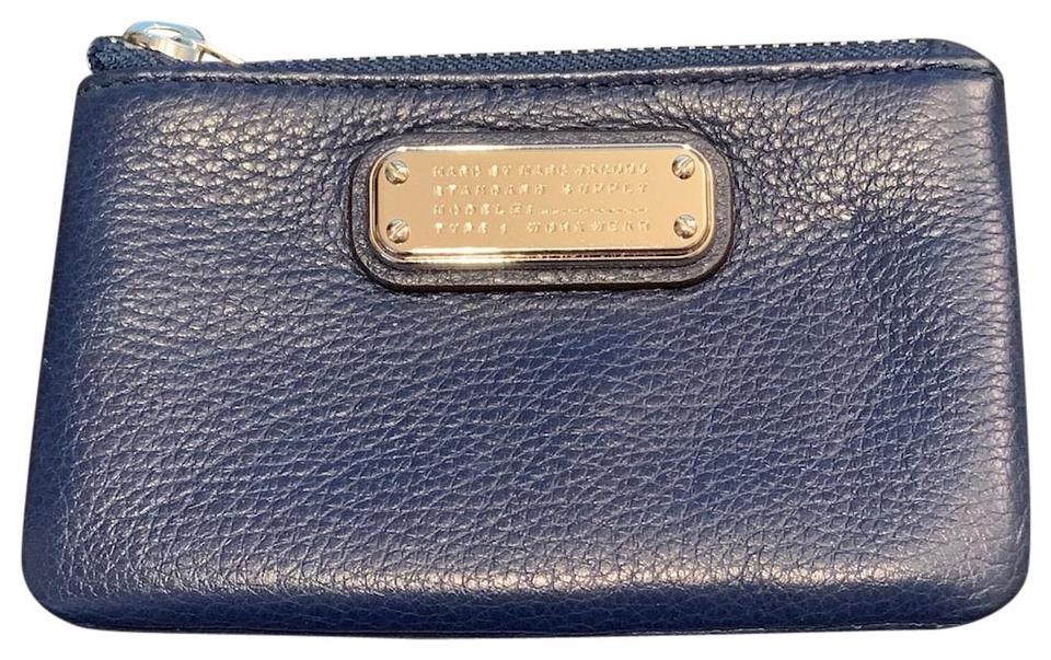 e41f4d54676c Marc by Marc Jacobs Blue Navy New Q Slim Leather Key Pouch Wallet ...
