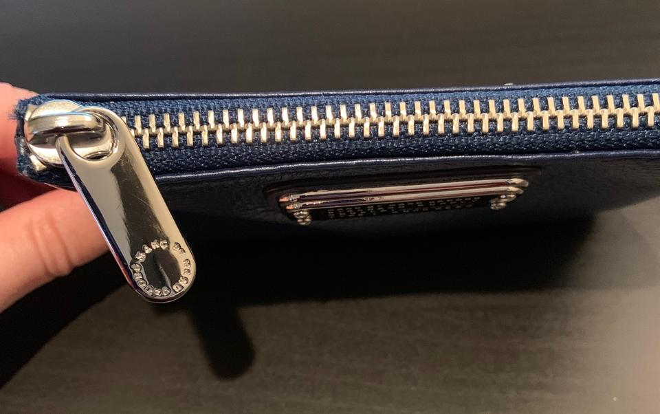 e1ad71fc9352 Marc by Marc Jacobs Blue Navy New Q Slim Leather Key Pouch Wallet ...
