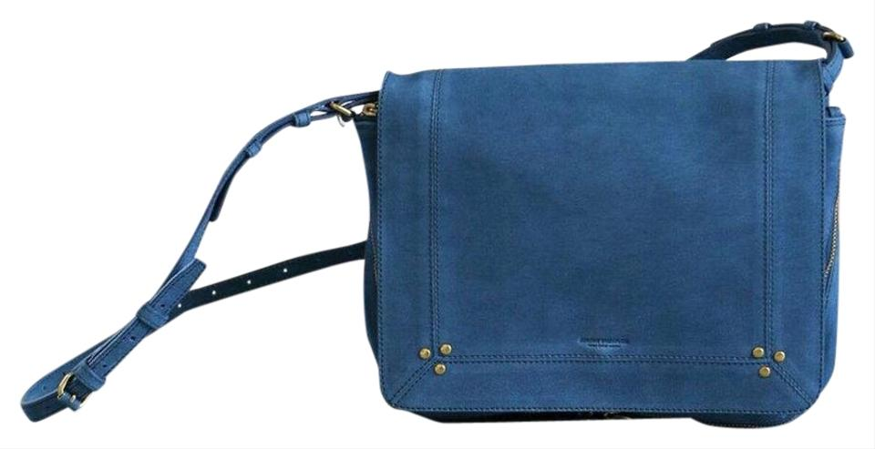 2970eb9f8 Jérôme Dreyfuss Igor Blue Goat Skin Leather Cross Body Bag - Tradesy