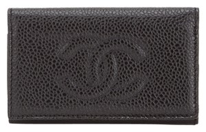 Chanel Chanel Black Caviar Key Ring (Authentic Pre Owned)