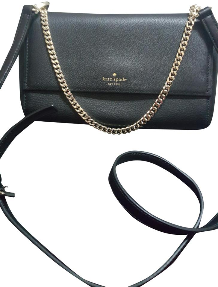 b0c5f40e2 Kate Spade New York Greer Atwood Place Black Leather Cross Body Bag ...