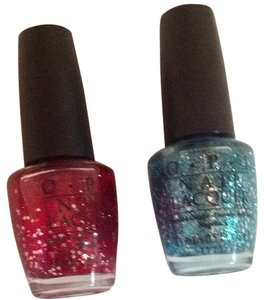 OPI 2 New OPI Glitter Nail Polish Set Red Blue