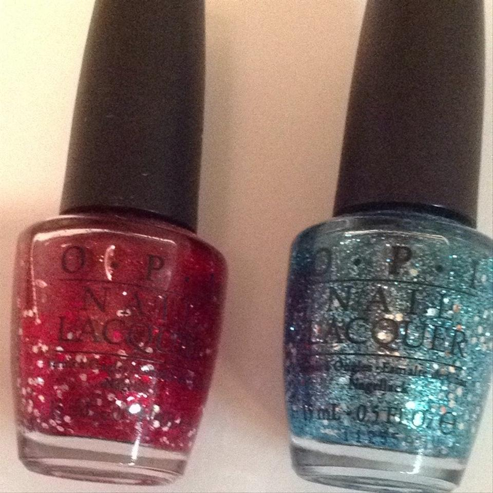 OPI 2 New Glitter Nail Polish Set Red Blue - Tradesy