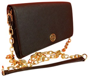 Tory Burch Wallet Purse Shoulder Black Clutch