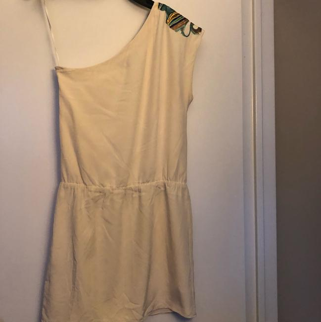 Tibi Off-white / Multi One-shoulder Relaxed Fit Short Cocktail Dress Size 2 (XS) Tibi Off-white / Multi One-shoulder Relaxed Fit Short Cocktail Dress Size 2 (XS) Image 2