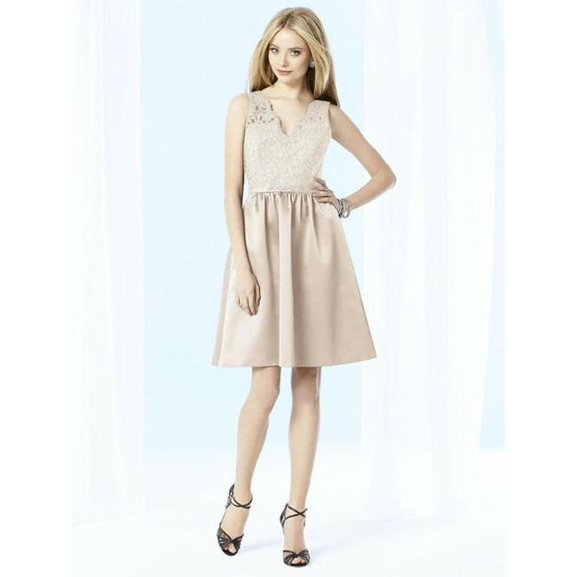 Item - Beige After Six - 6707iv In Cameo Formal Bridesmaid/Mob Dress Size 4 (S)