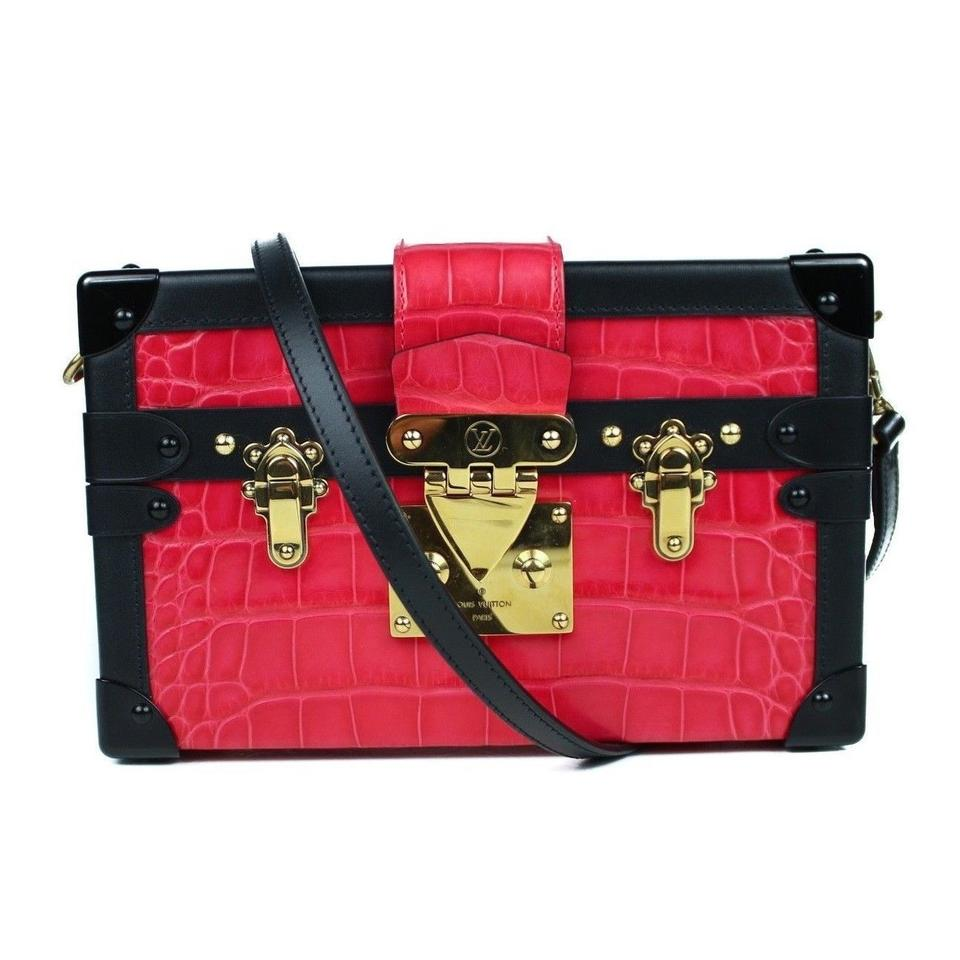 847234f1279562 Louis Vuitton Petite Malle With Tags: Pink/Black Crocodile Skin Leather  Shoulder Bag