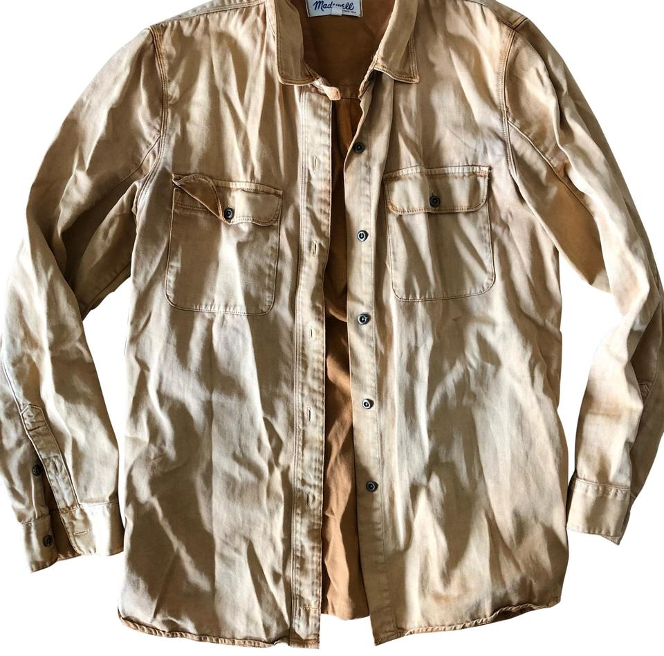 45a827c9 Madewell Tan Women's Workwear Canvas Shirt Button-down Top Size 8 (M ...