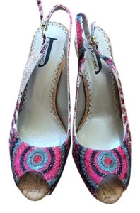J. Renee Pink/Navy/Cream Platforms
