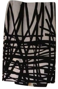 Lafayette 148 New York Skirt Black & Ivory