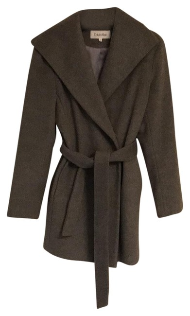 Item - Grey Wrap Wool Coat Size 6 (S)