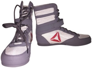 Reebok Boxing Boot Grey and Red Athletic