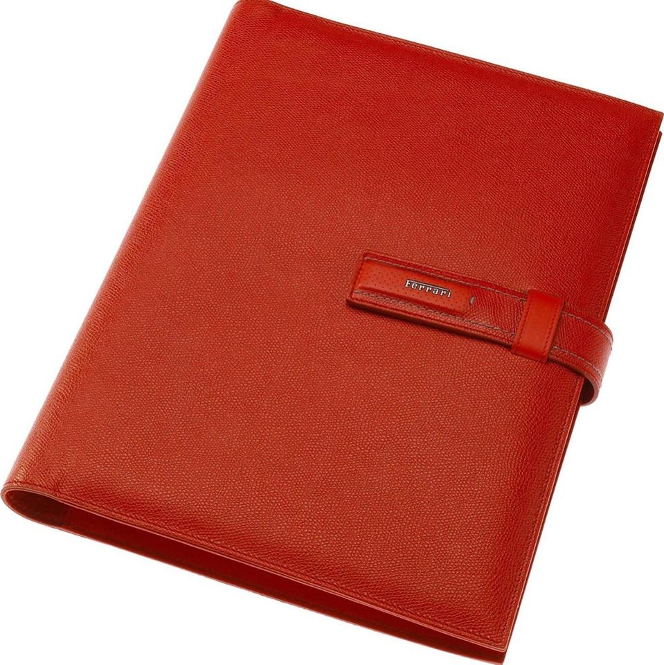 Ferrari Document Folder. Red Leather Laptop Bag - Tradesy 524158b34c2db
