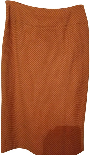 Item - Berry Beige Diagonal Texture Fabric Straight Skirt Size 6 (S, 28)