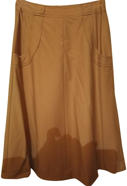 Item - Tan Aline Wool Blend Rounded Pockets Skirt Size 2 (XS, 26)