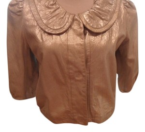 Cynthia Steffe METALLIC Leather Jacket