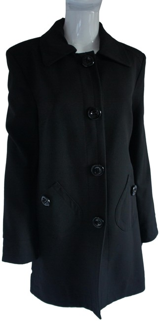 Sinéquanone Black Spring-weight Swing Coat Size 10 (M) Sinéquanone Black Spring-weight Swing Coat Size 10 (M) Image 1
