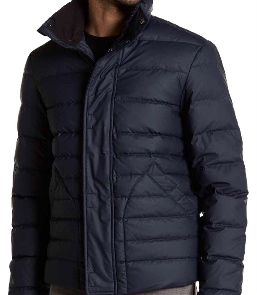 2c0b5e493b126 Hunter Navy Men's Funnel Neck Quilted Puffer Jacket Coat Size 16 (XL ...