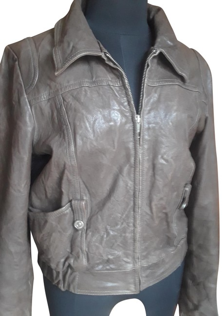 Item - Brown/Khaki Fly-in-style Bomber Jacket Size 8 (M)