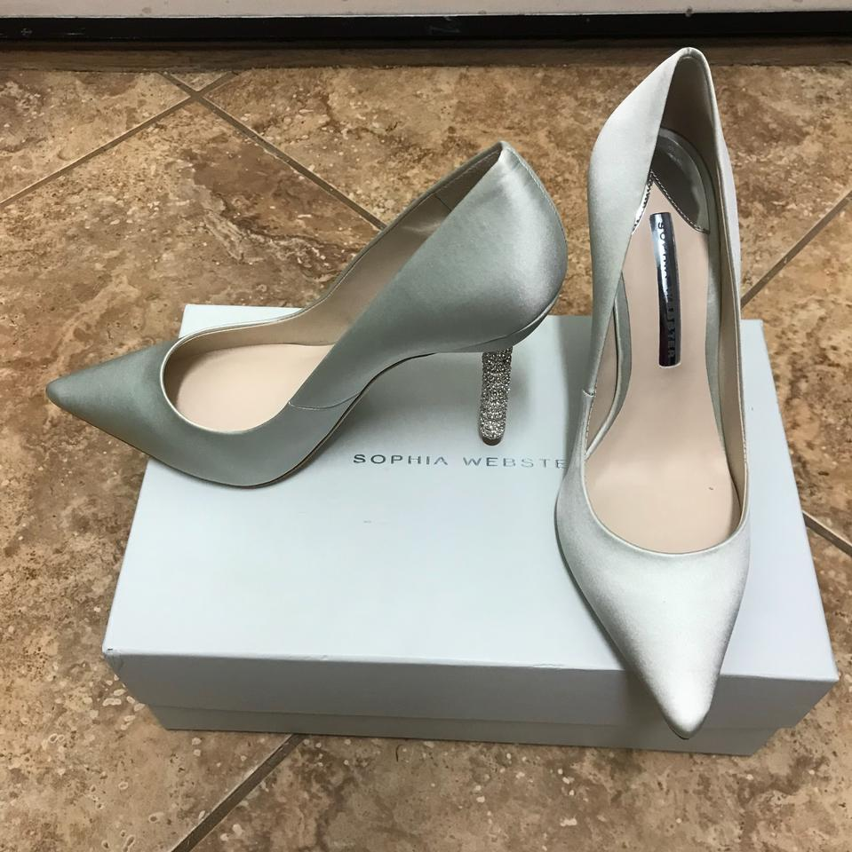 1e9949c0cf5c86 Sophia Webster Ice Blue Coco Satin Crystal-heel Bridal Pumps Size EU ...