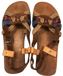 Isabel Marant burgundy/light blue Sandals