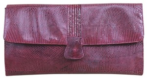 Bagheera Fall Winter Luxury Leather Night Out Red Clutch