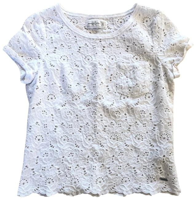 Item - White Lacy Like Blouse Size 8 (M)