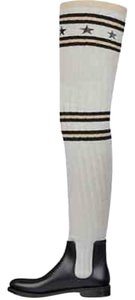 Givenchy Storm Rainboot Sock Knitted Lurex Black, Grey, Gold Boots